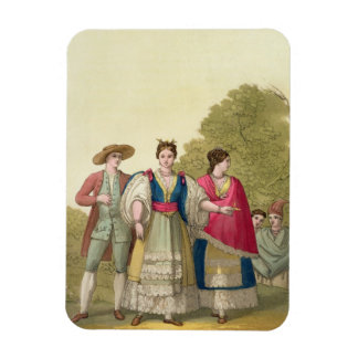 Peruvian Men and Women in Traditional Costume (col Vinyl Magnets