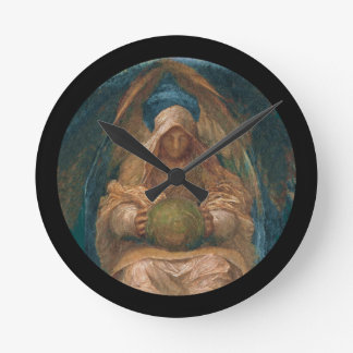 Pervading Spirit Angel Round Clock