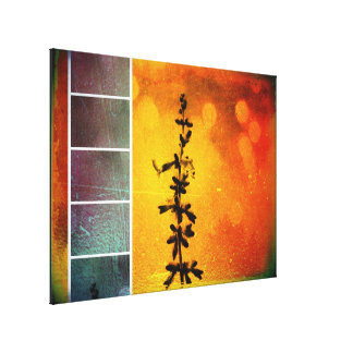 Pervoskia Collage Aflame Wrapped Canvas Print
