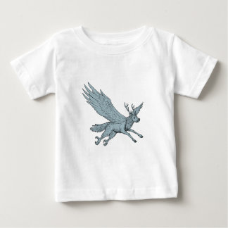 Peryton Flying Side Drawing Baby T-Shirt