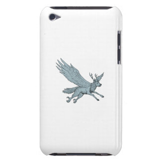 Peryton Flying Side Drawing Barely There iPod Cover