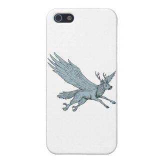 Peryton Flying Side Drawing iPhone 5/5S Cases