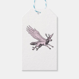 Peryton Flying Side Tattoo Gift Tags