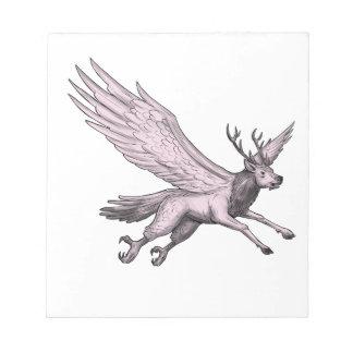Peryton Flying Side Tattoo Notepad
