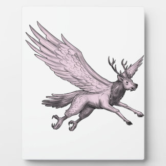 Peryton Flying Side Tattoo Plaque