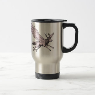 Peryton Flying Side Tattoo Travel Mug