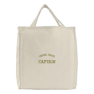 Pesonalised Boat Name Captain Bag