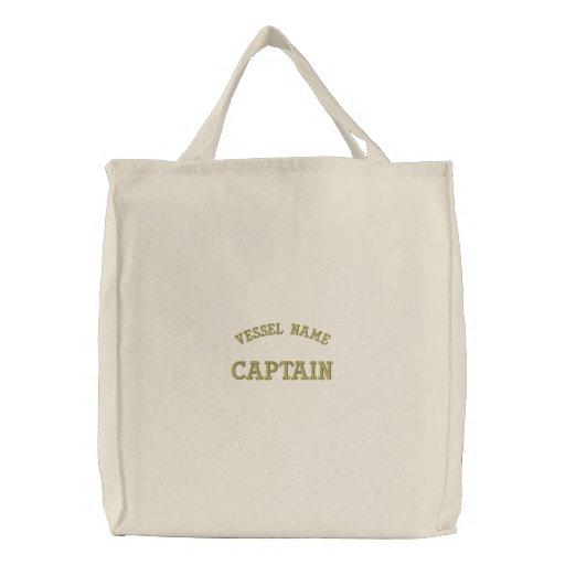 Pesonalised Boat Name Captain Bag