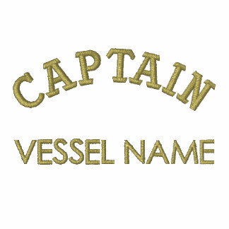 Pesonalised Boat Name Captain Polo Shirt