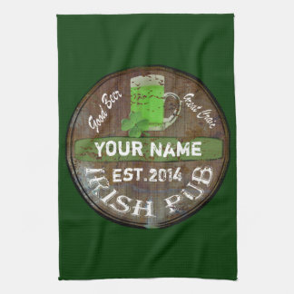 Pesonalized Irish pub sign Kitchen Towel