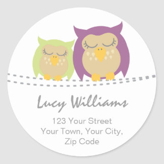 Pesrsonalised Owl Address Stickers