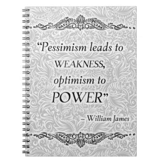 Pessimism leads to weakness - Positive Quote´s Notebook