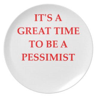 PESSIMIST PLATE