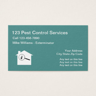 Pest Control Exterminating Service Business Card