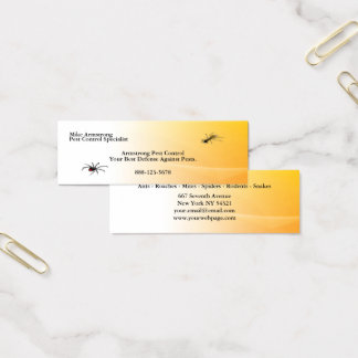Pest Control Exterminator Bugs Insects Mini Business Card