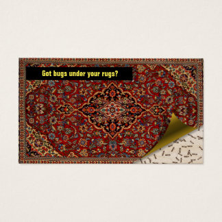 Pest Control Exterminator - Got bugs? Persian Rug Business Card