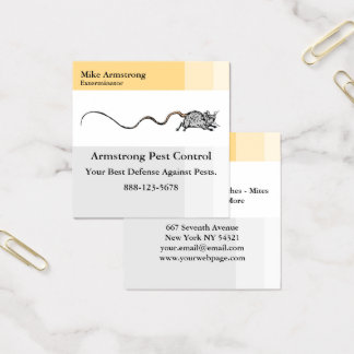 Pest Control Exterminator Mouse Square Business Card