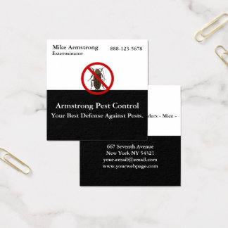 Pest Control Insect Bug Exterminator Square Business Card