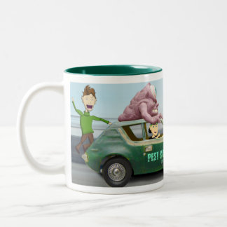 Pest Control International -  Gremlin attack Two-Tone Coffee Mug