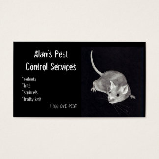 PEST CONTROL: MOUSE IN PENCIL: BUSINESS BUSINESS CARD