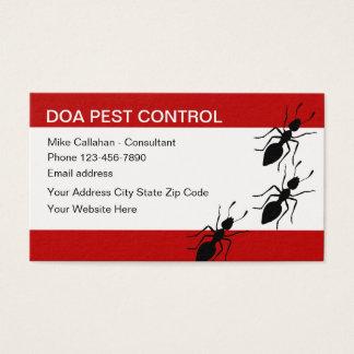Pest Control Services Modern Design Business Card