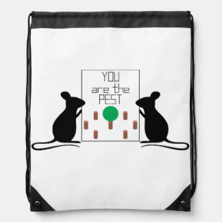 Pest Drawstring Bag