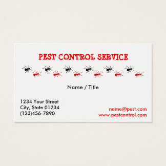 Pest Service Single Sided Business Card