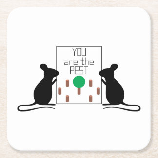 Pest Square Paper Coaster