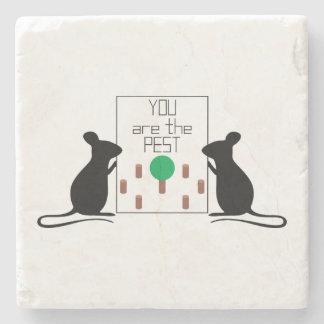 Pest Stone Coaster