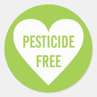 Pesticide Free Organic Culinary Label Round Sticker