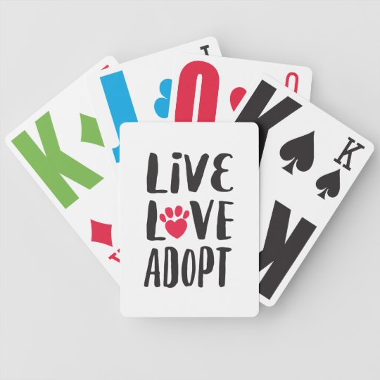 Pet Adoption Fundraiser Playing Cards