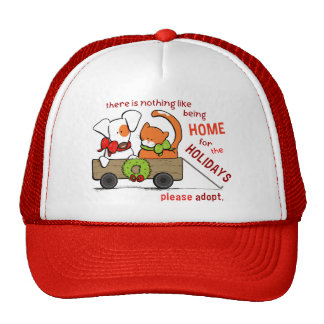 Pet Adoption Patch n Rusty Home for Christmas Trucker Hat