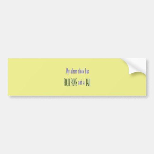 Pet Alarm Clock - Yellow Background Bumper Sticker