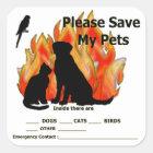 Pet Alert Stickers