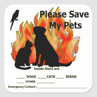 Pet Alert Stickers