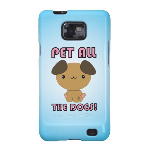 Pet All the Dogs! Kawaii Puppy Galaxy S2 Cover
