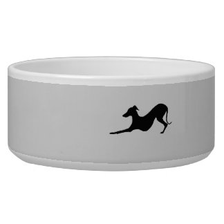 Pet Bowl with Italian Greyhound on it