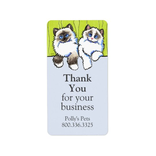 Pet Business Ragdoll Cats Off-Leash Art™ Label