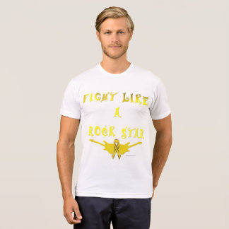 Pet Cancer Rock Star Men's Poly-Cotton T-shirt