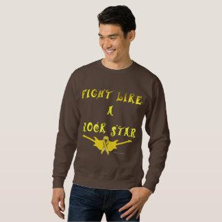 Pet Cancer Rock Star Men's Sweatshirt