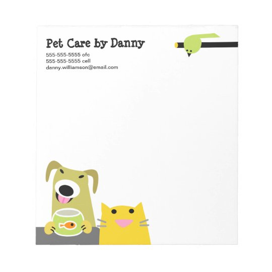 Pet Care Business Notepad