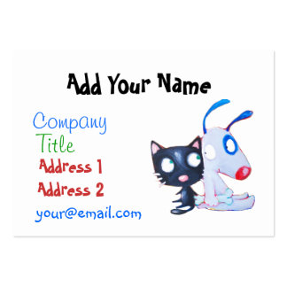 pet care, cat lover, dog lover large business card