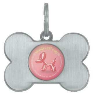 Pet Care Grooming Sitting Bathing Cute Dog Balloon Pet Name Tag