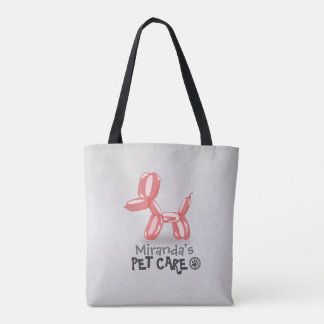 Pet Care Grooming Sitting Bathing Cute Dog Balloon Tote Bag
