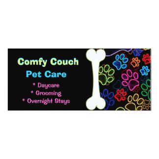 Pet Care Paw Prints Store Flyer Card