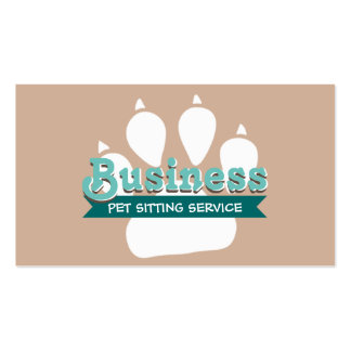 Pet Care Pet Food Cute Paw Print Business Card