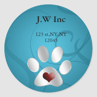 pet care Return address label Round Sticker