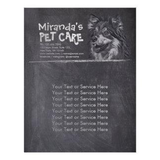 Pet Care Sitting Adorable Cartoon Dog Chalkboard Flyer