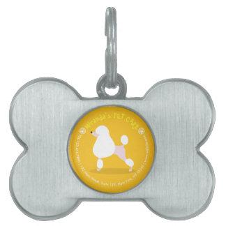 Pet Care Sitting Adorable Cartoon Dog Illustration Pet ID Tag