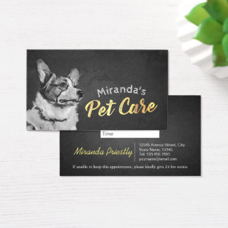 Pet Care Sitting Bathing and Grooming Beauty Salon Business Card